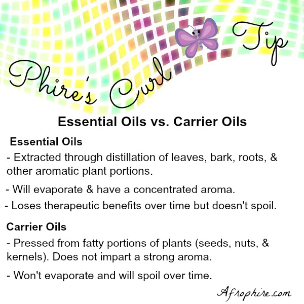 essential oils and carrier oils for hair