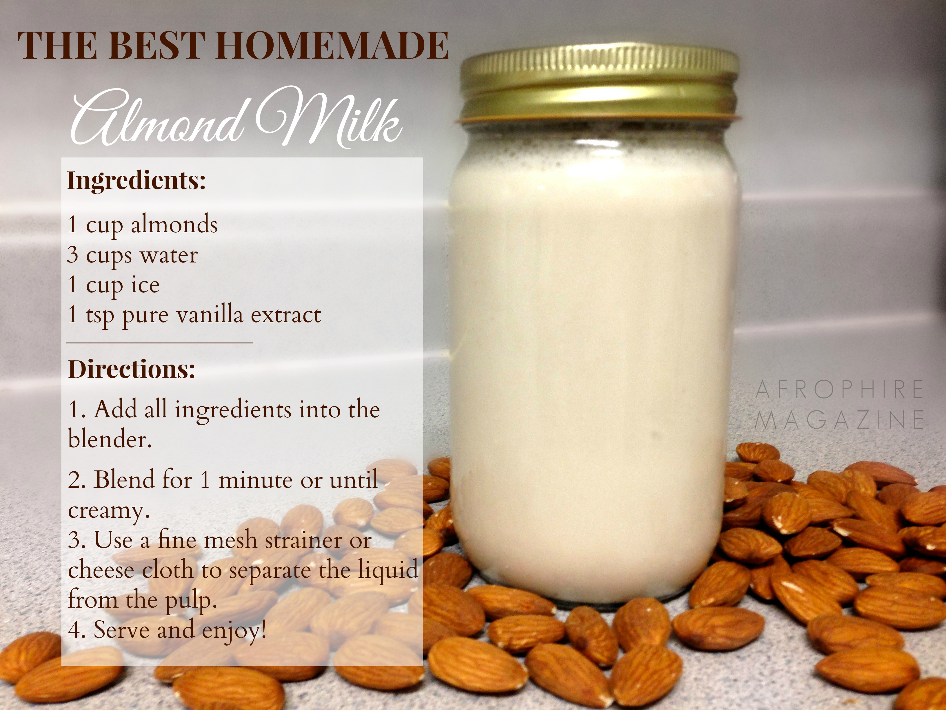 Homemade Almond Milk | Tasty Kitchen Blog